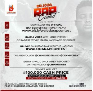 waloda rap contest