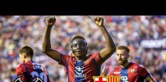 levante vs barcelona goal highlight